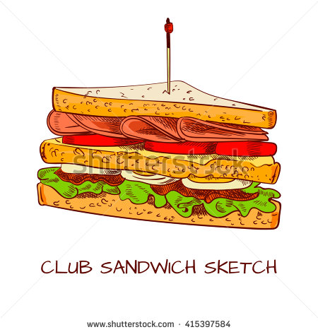 Club Sandwich Isolated Stock Photos, Images, & Pictures.
