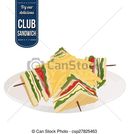 Club sandwich Clipart and Stock Illustrations. 128 Club sandwich.