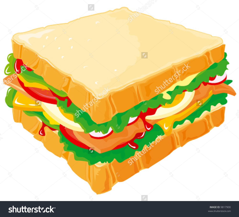 Club Sandwich Stock Vector 9817900.