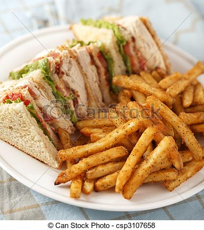 Pictures of classic club sandwich.