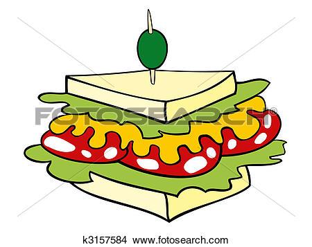 Club sandwich Clipart Illustrations. 74 club sandwich clip art.