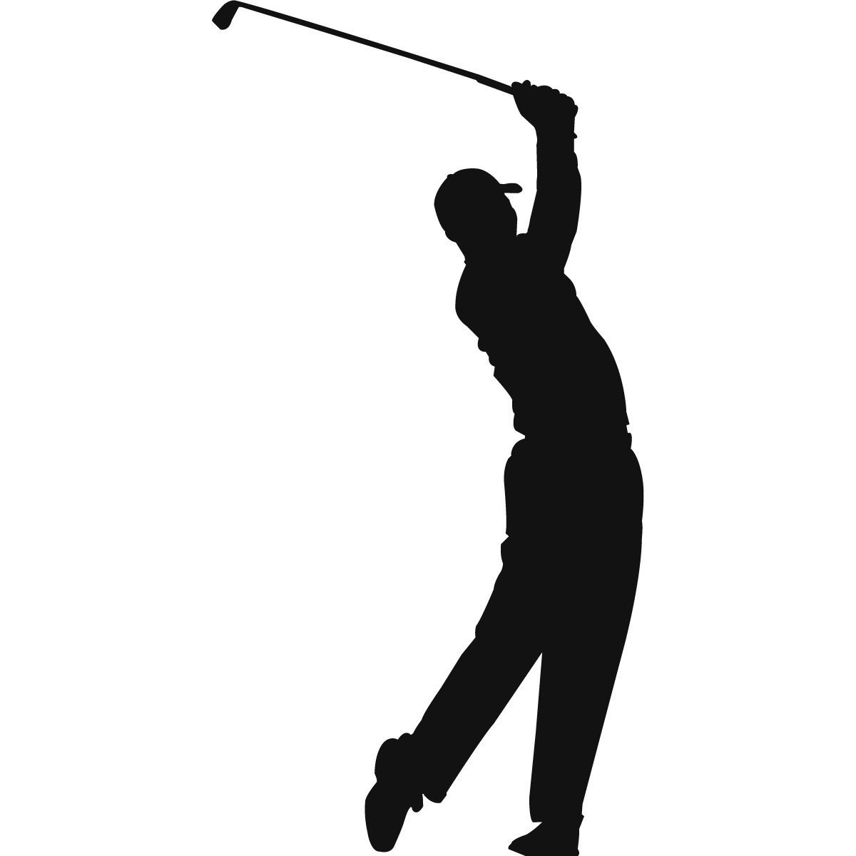 Golf Club Silhouette Clipart#2023841.