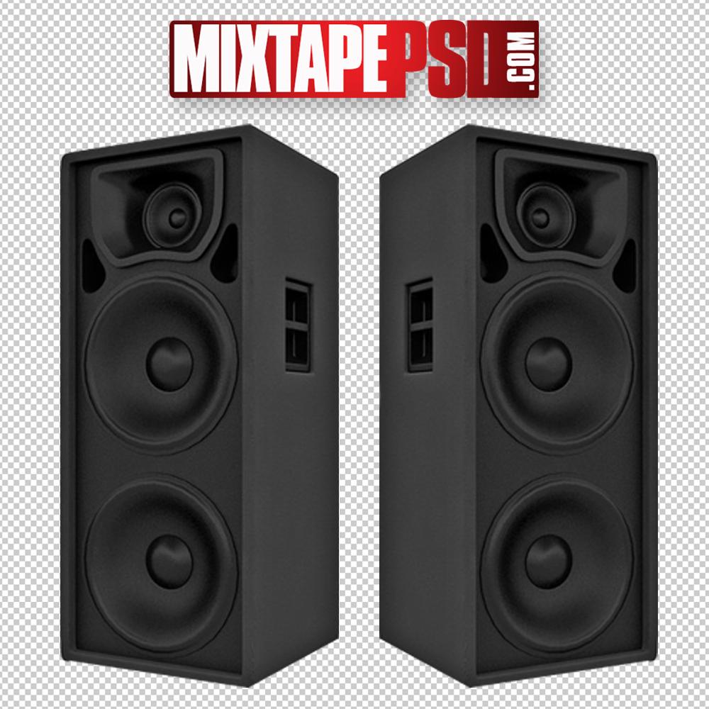 Black Club Speakers PNG Image.