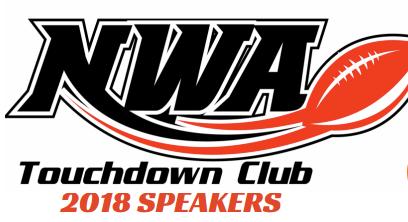 NWA Touchdown Club Speakers Revealed.