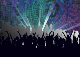 Nightclub Footage, vector graphics.
