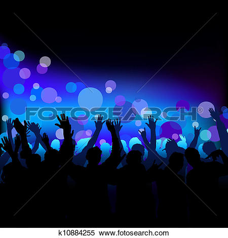 Clipart of Night Club Life k10884255.