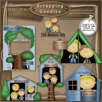 Treetop Clubhouse Clipart.