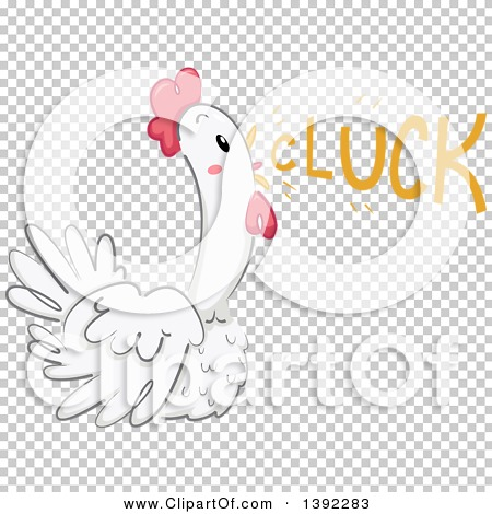 Clipart of a Chicken Making a Cluck Sound.