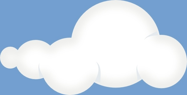 Soft Clouds Sky clip art Free vector in Open office drawing svg.