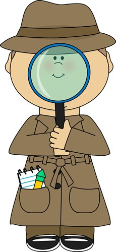 Looking For Clues Clipart.