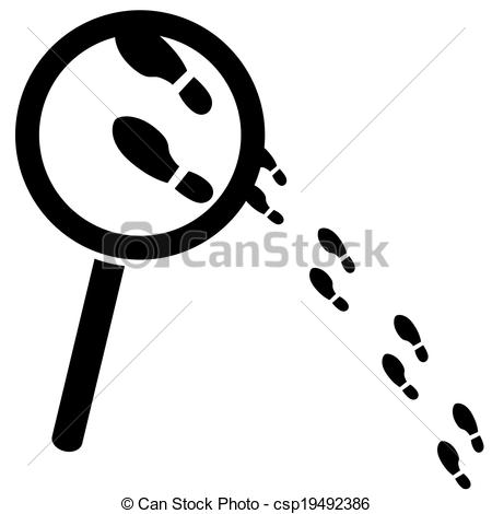 Vector of Searching for clues.