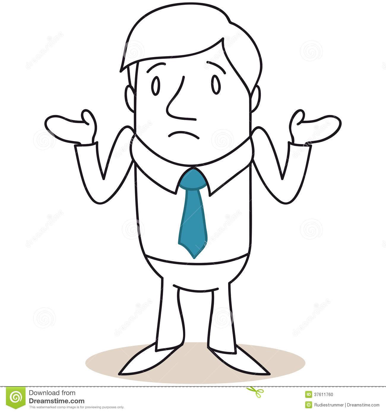 Businessman Shrugging Shoulders Stock Photos.