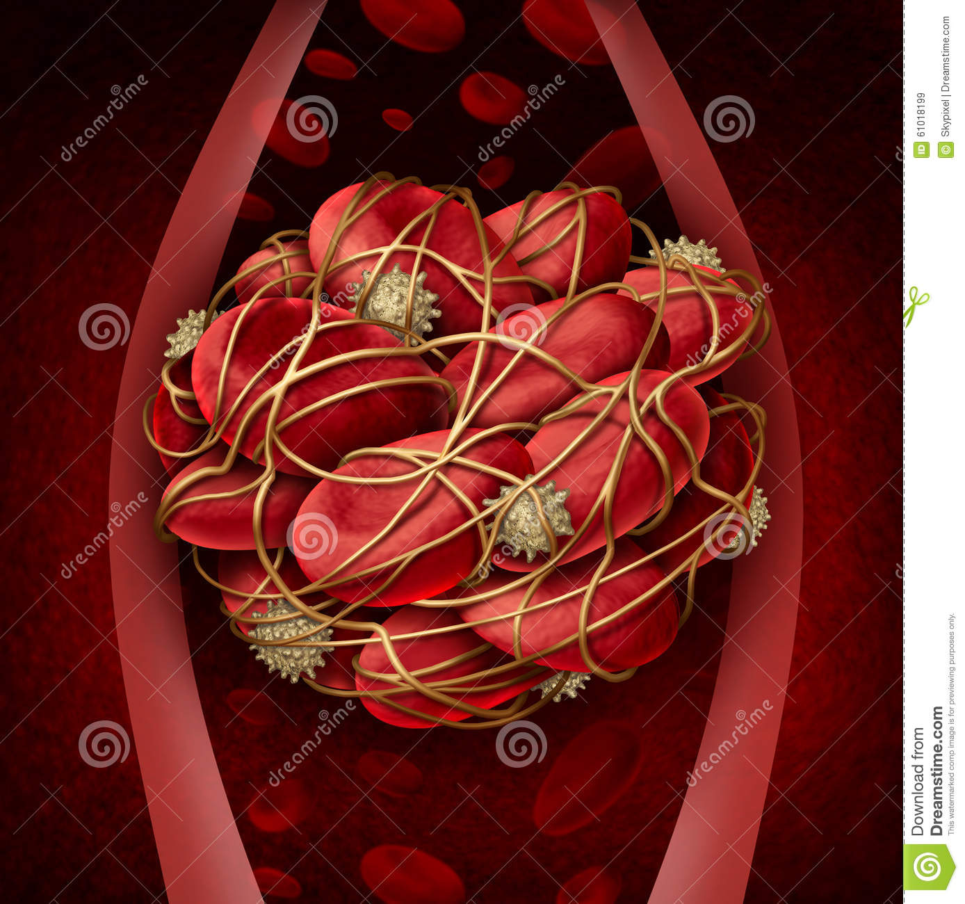 Human Blood Platelets Clip Art.