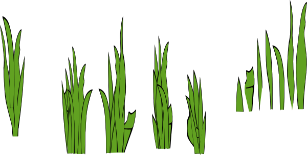 Grass Blades And Clumps clip art Free Vector / 4Vector.