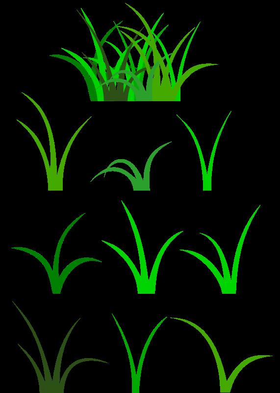 Grass Blades And Clumps Clip Art Download.