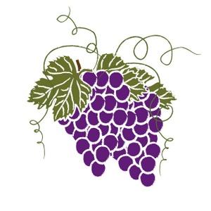 Grape Cluster Clipart Image.
