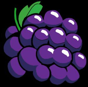 Grape cluster clip art.
