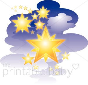 Cluster of Stars Clipart.