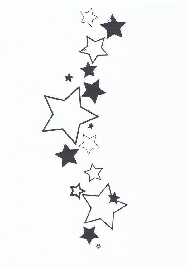 cluster of stars tattoo designs.