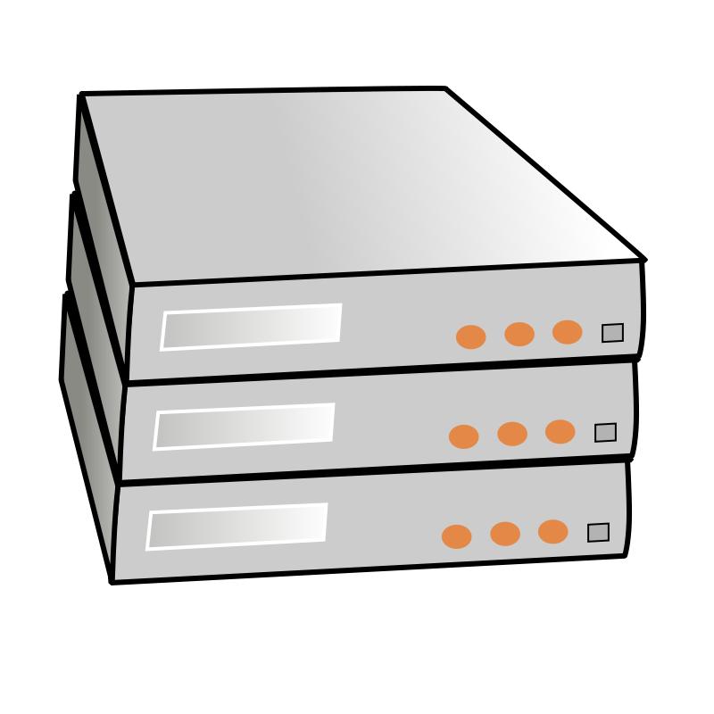 Cluster Computer Clip Art.