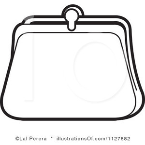 Clutch purse clipart.