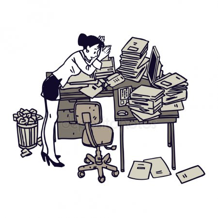 Messy desk Stock Vectors, Royalty Free Messy desk Illustrations.