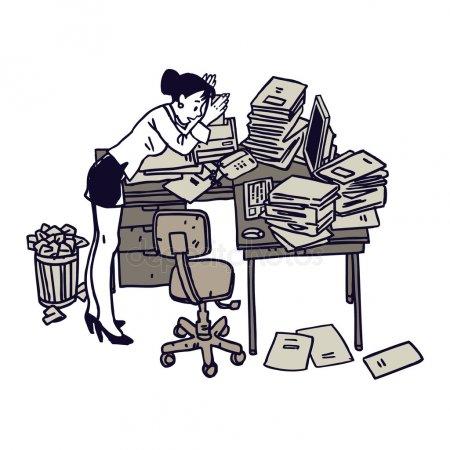 Messy desk Stock Vectors, Royalty Free Messy desk Illustrations.
