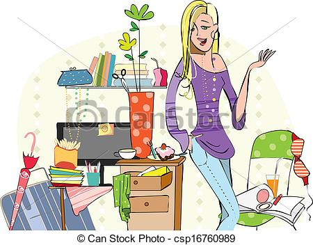 Clutter Clipart and Stock Illustrations. 514 Clutter vector EPS.