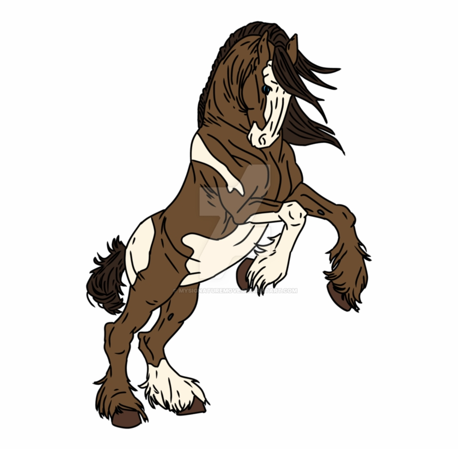 Clydesdale Clipart Simple Horse.