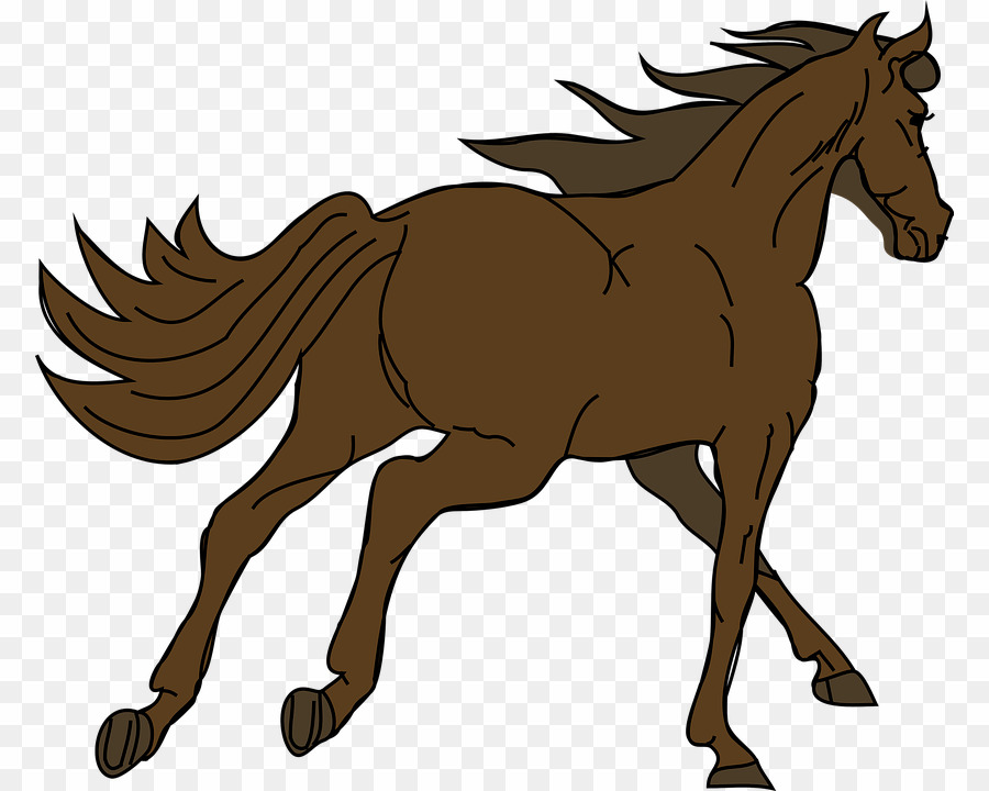 Brown Horse PNG Mustang Clydesdale Horse Clipart download.