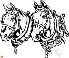 Image result for clydesdale clipart black and white.