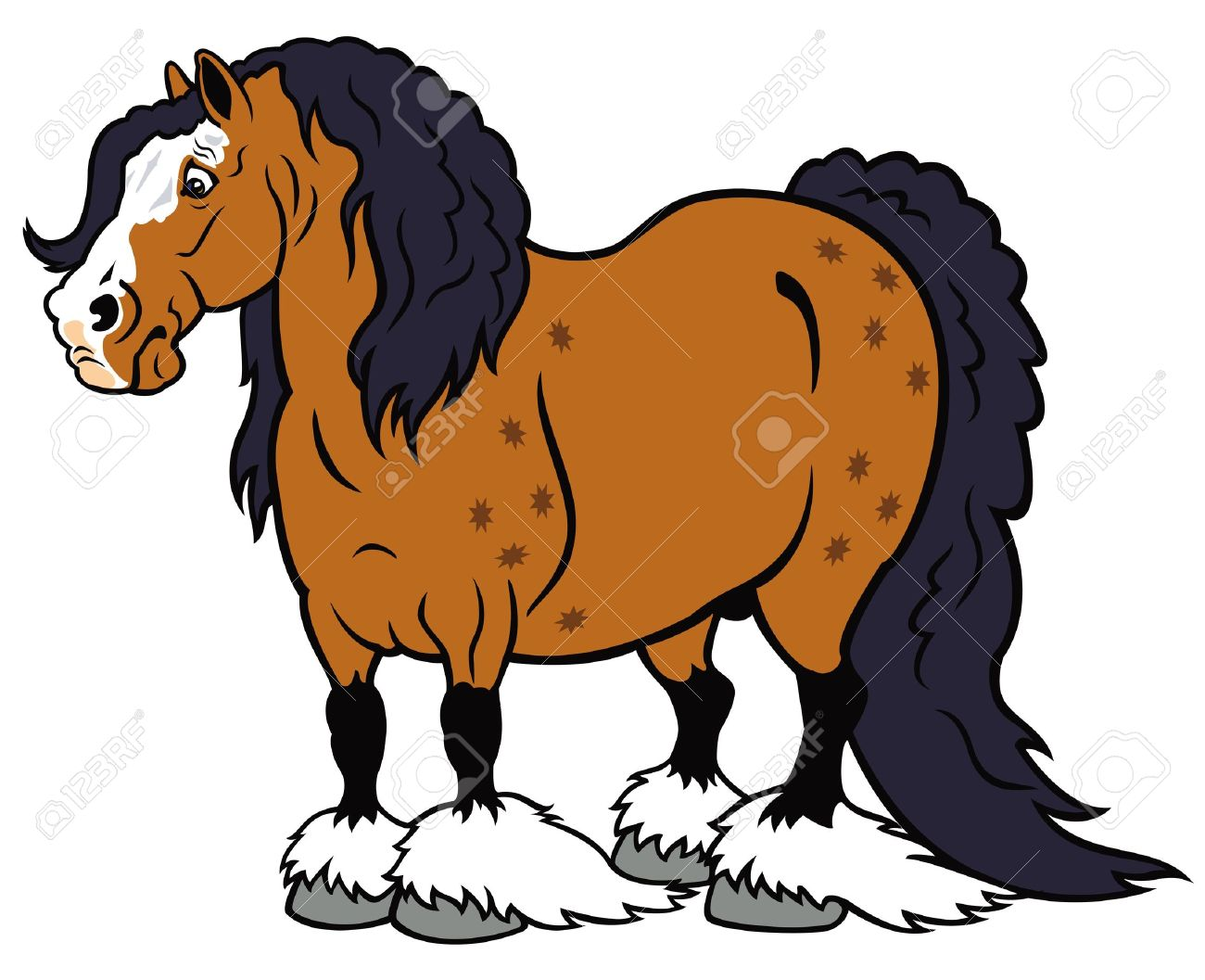 Clydesdale horses clipart 5 » Clipart Station.