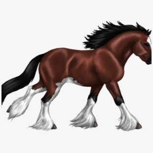 Clydesdale Clipart Cute Horse.