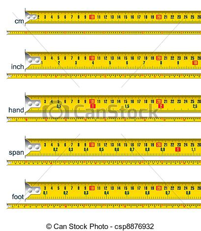 Vector Illustration of tape measures.