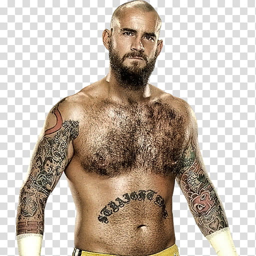 Cm Punk Bald ( Straight Edge Society ) transparent.