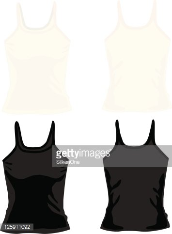 Ladies Camisole Tops premium clipart.