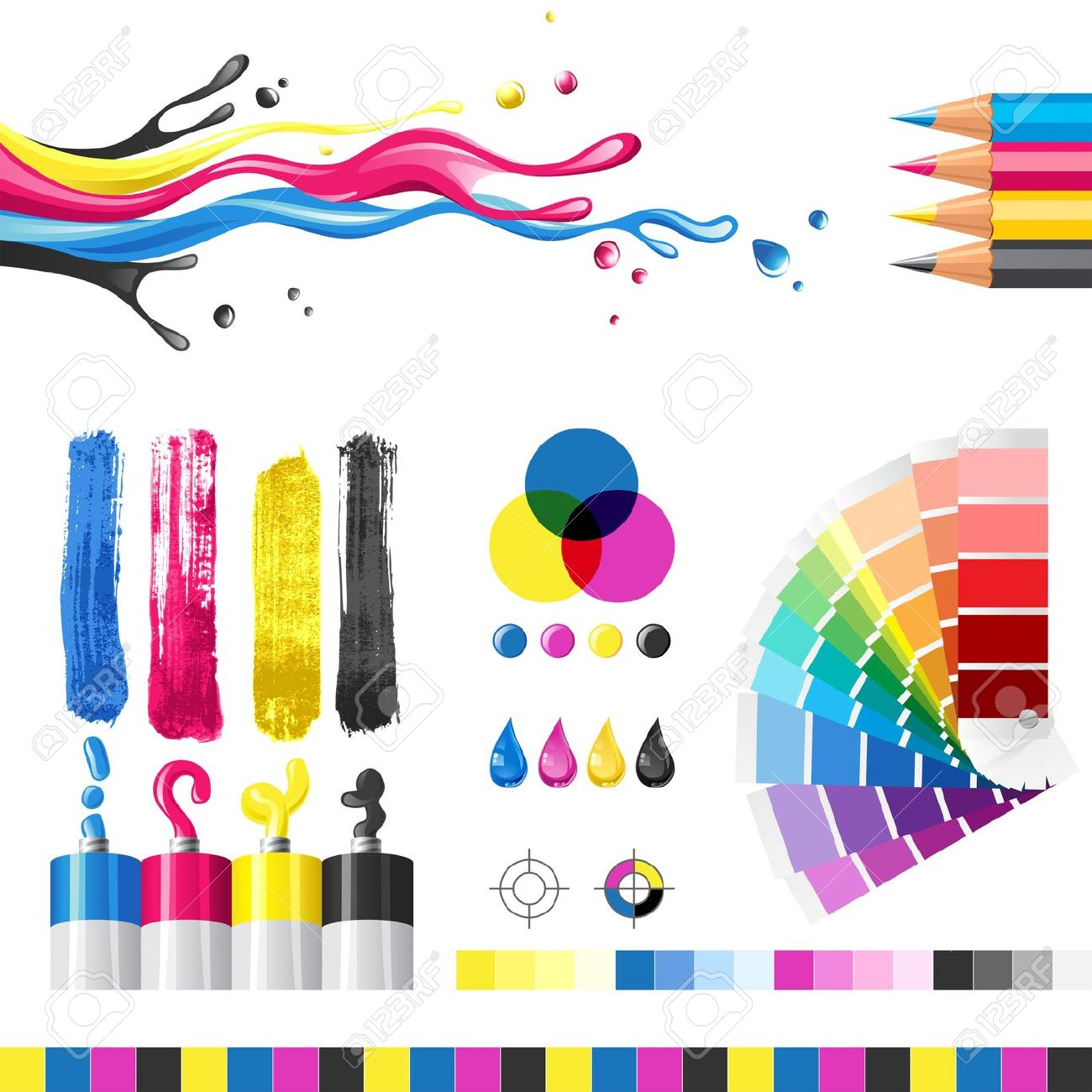 Color printing clipart.