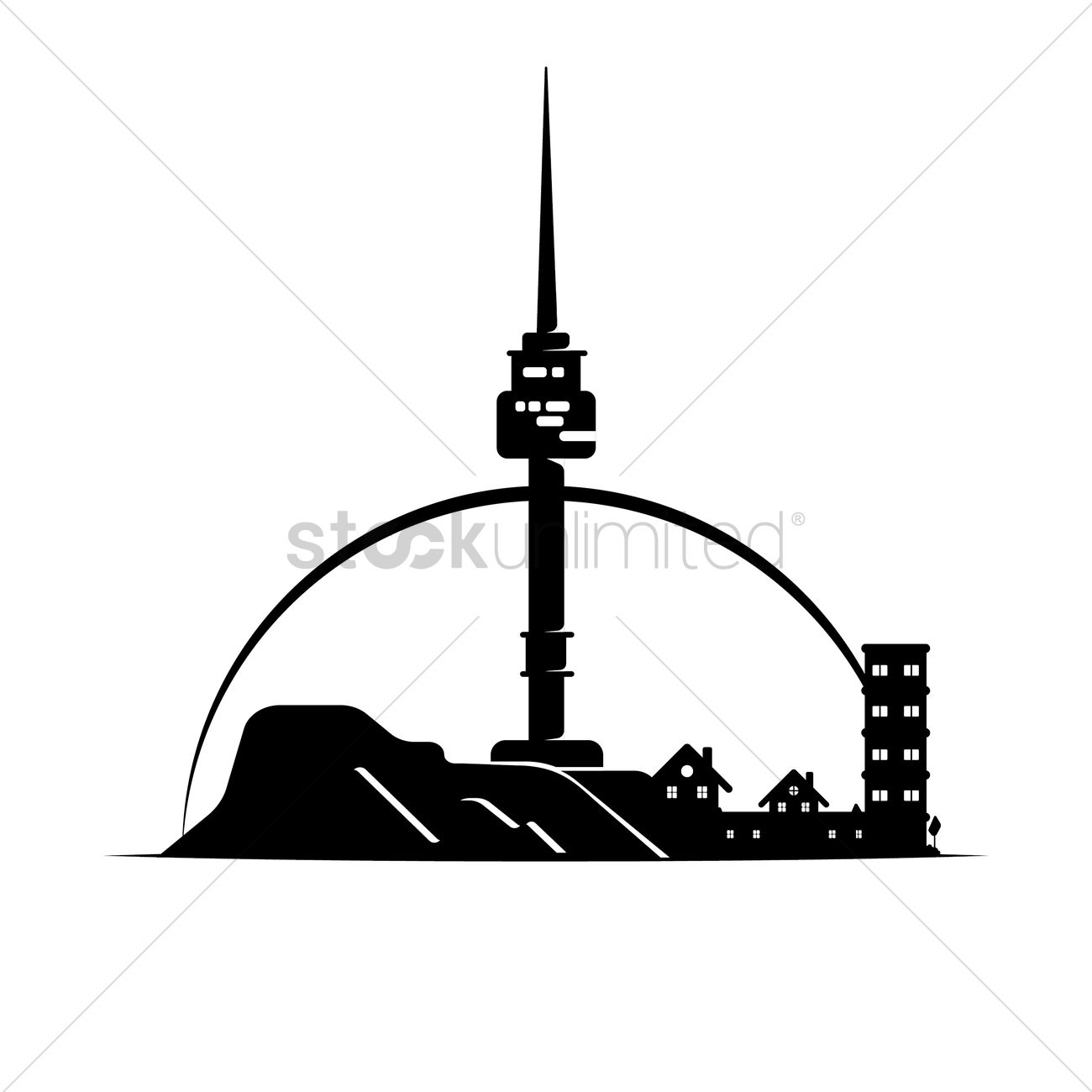 Cn tower Vector Image.