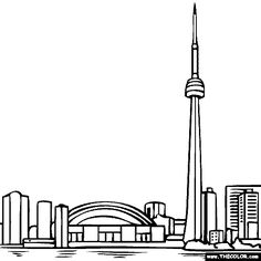 Clipart cn tower.