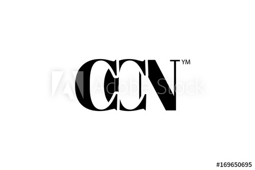 CCN Logo Branding Letter. Vector graphic design. Useful as.
