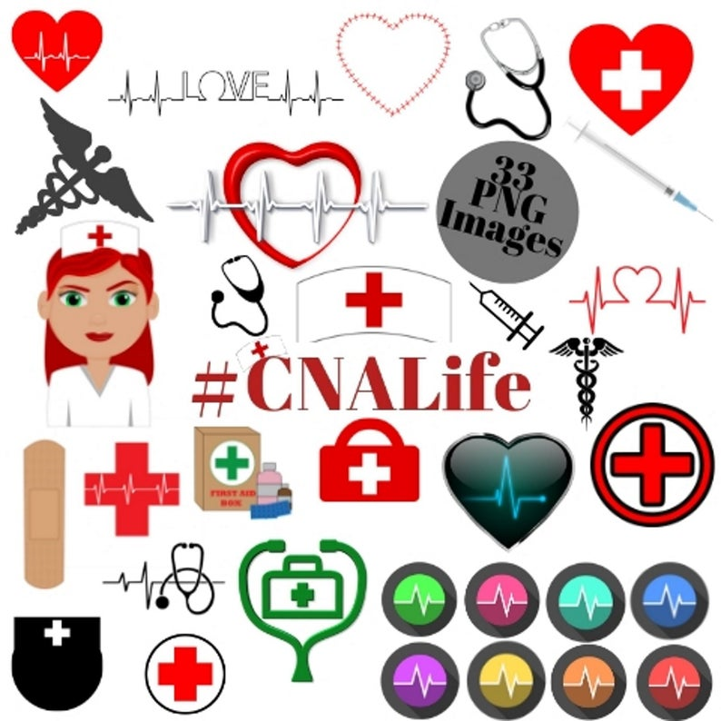 33 CNA Life Image clipart set with UNLIMITED Personal &.