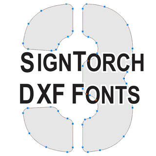 Berg DXF Stencil Font DXF Fonts 3 Vector Graphics DXF Clip Art for CNC.