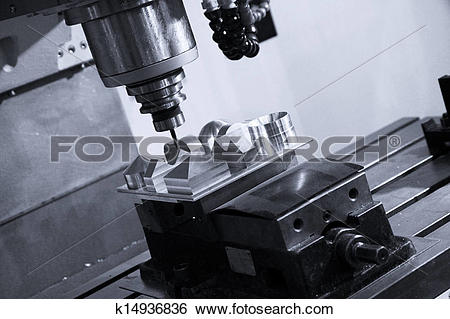 Stock Images of CNC milling ,Machine tool k14936836.