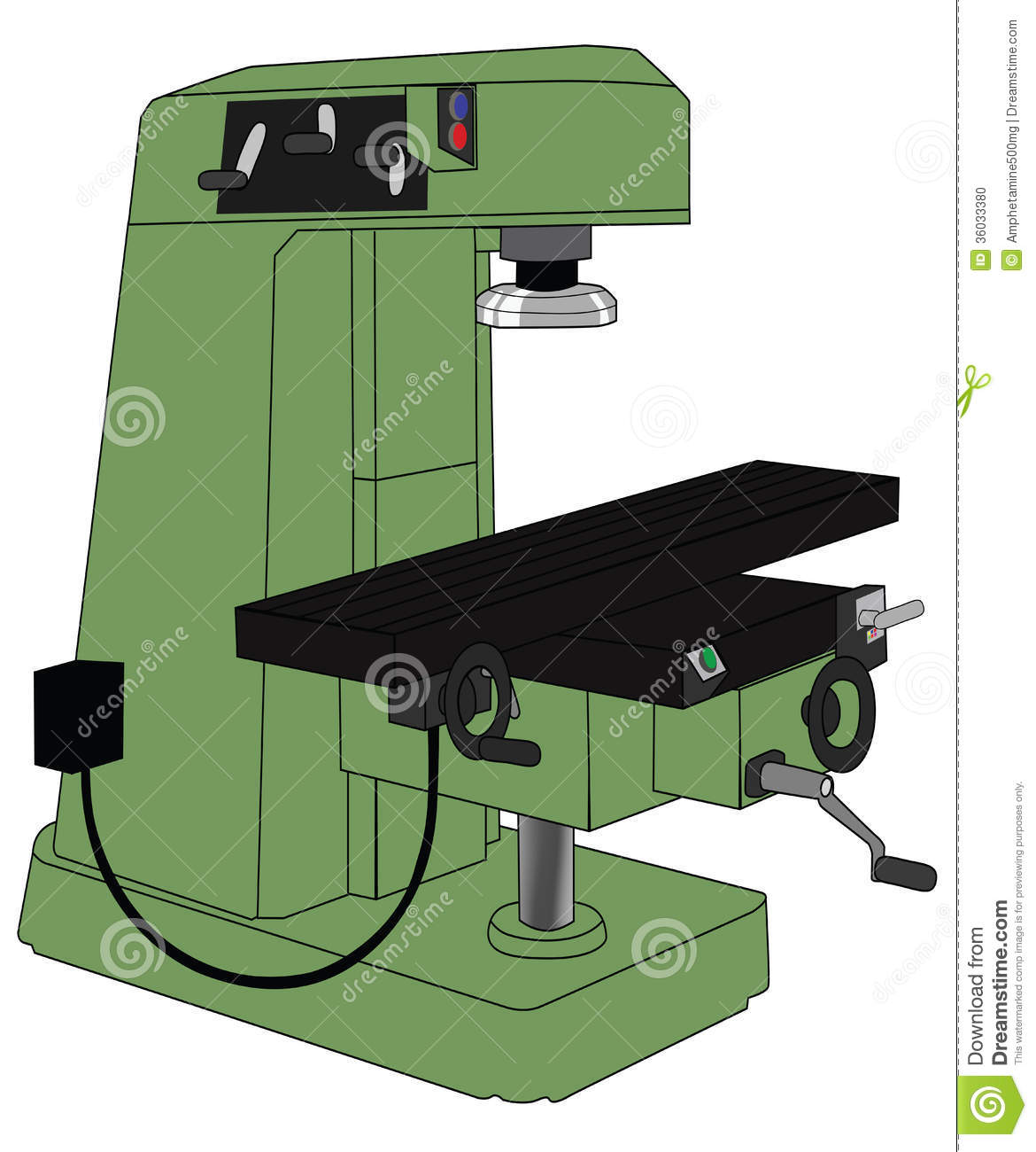 Milling machine clipart.