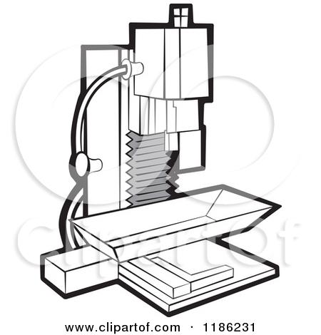 Milling machine clipart.