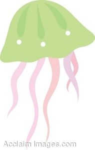 Clip Art of a Jellyfish.