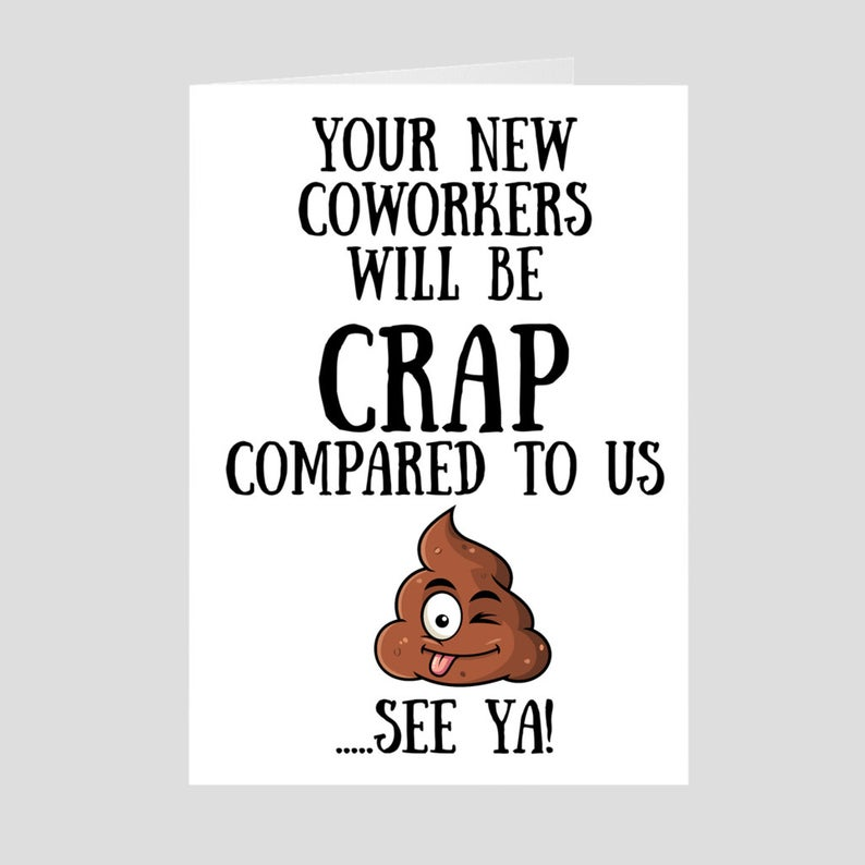 Coworker Goodbye, Coworker Card, Promotion Coworker leaving card, Funny  Going away card, Co.