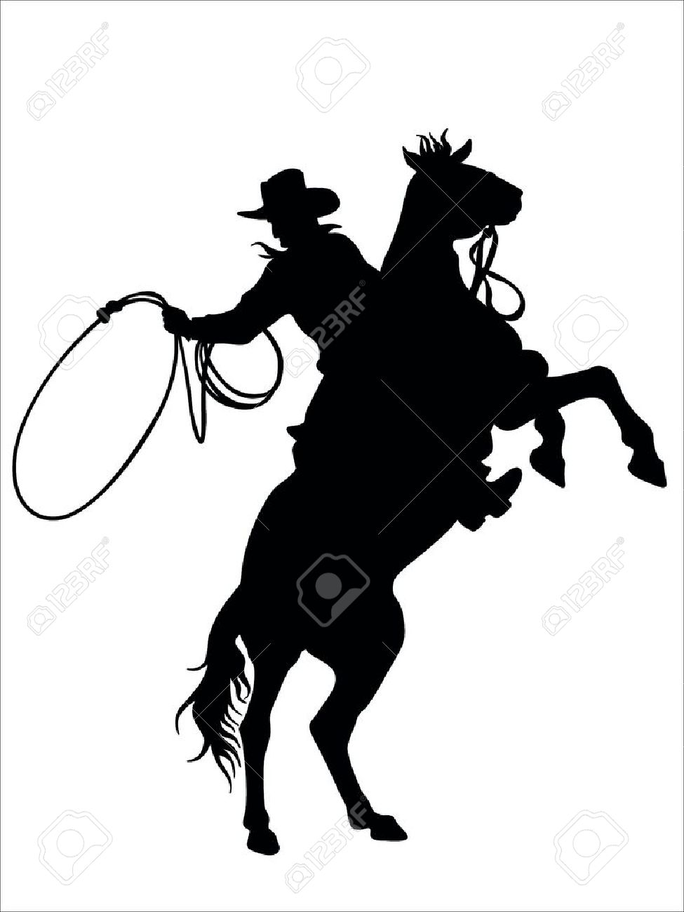 Cowboy Outline With Cowboy Action Outline Clipart : Cowboy Outline.