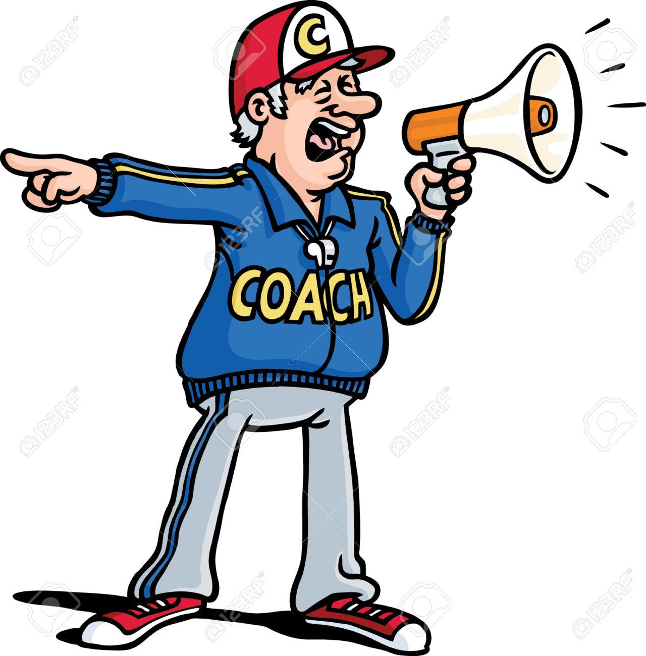 Coach clip art.