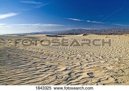 Stock Image of Sand in the Coachella Valley Preserve, California.